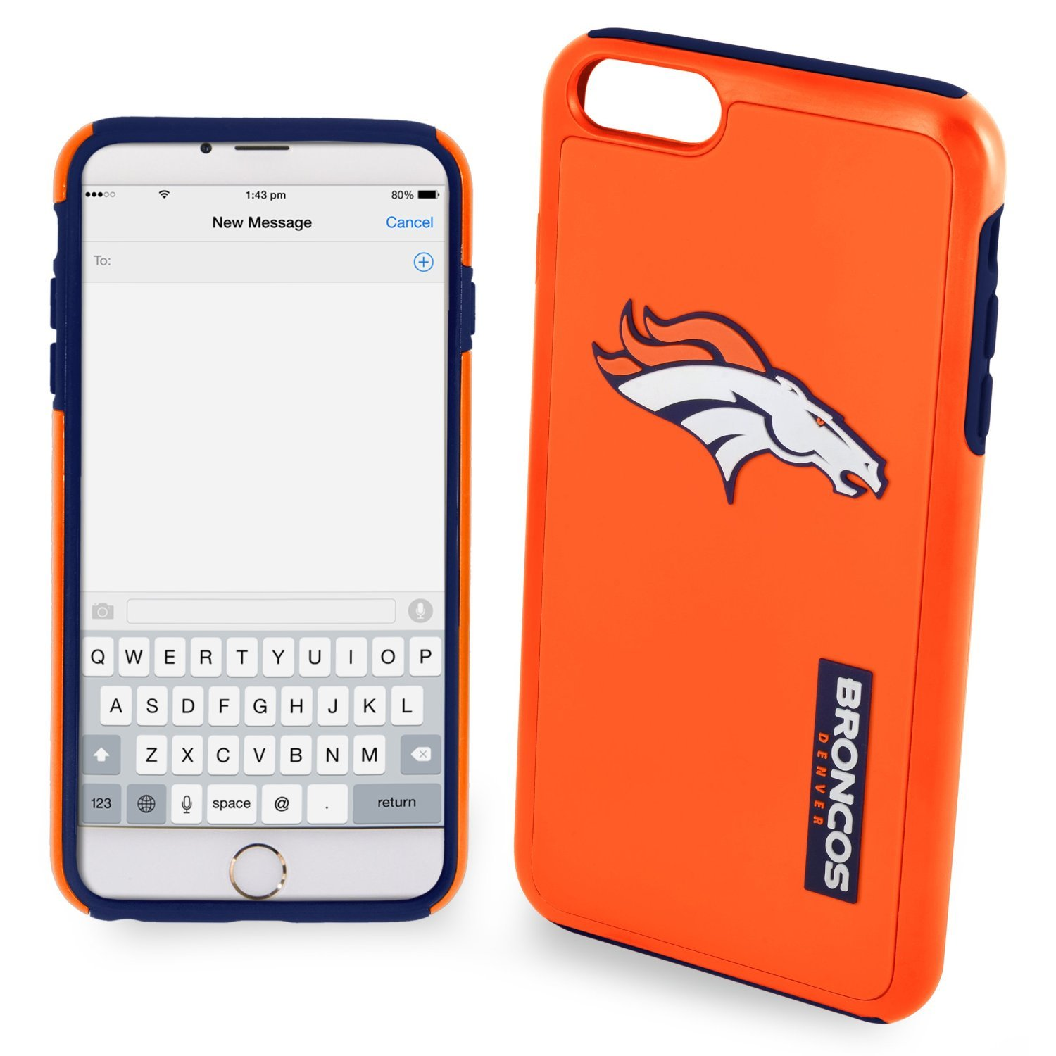 Forever Collectibles - Licensed NFL Cell Phone Case for Apple iPhone 6 Plus/6s Plus - Retail Packaging - Denver Broncos
