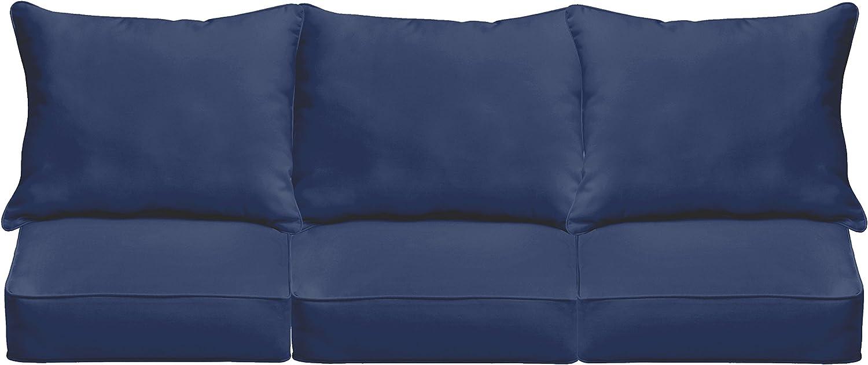 "Mozaic AZPCSET4358 Swavelle Corded Outdoor Sofa Set, 23"" x 25"" x 5"", Dark Blue"