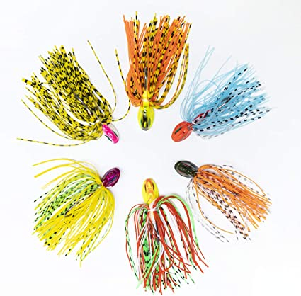 10 x Carbon Steel Jig Heads Fishing Ball Jigs with Spoon for Bass Fishing