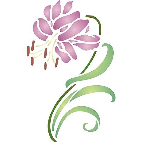 Tiger Lily plantilla – reutilizable de pared plantillas para pintar – mejor calidad Decor Ideas –