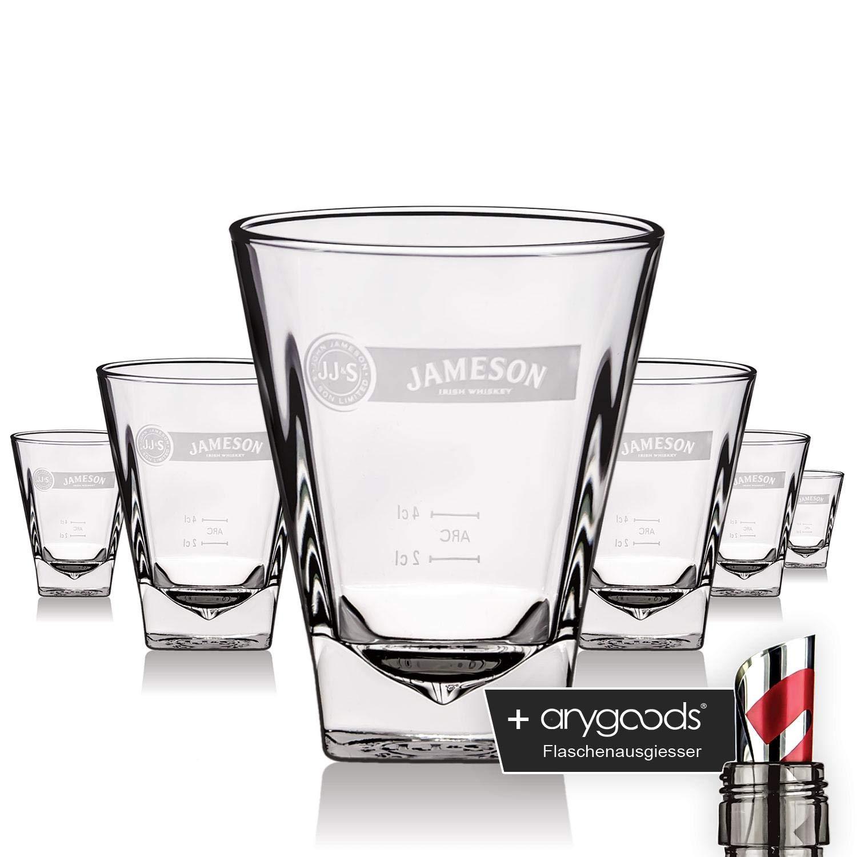 Jameson Glas Gläser Prism Edel Design Whiskey Tumbler Gastro Bar Deko NEU