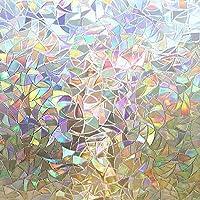 Rabbitgoo Window Film 3D No Glue Static Decorative Films Glass Window Film Anti UV, Dazzling Effect