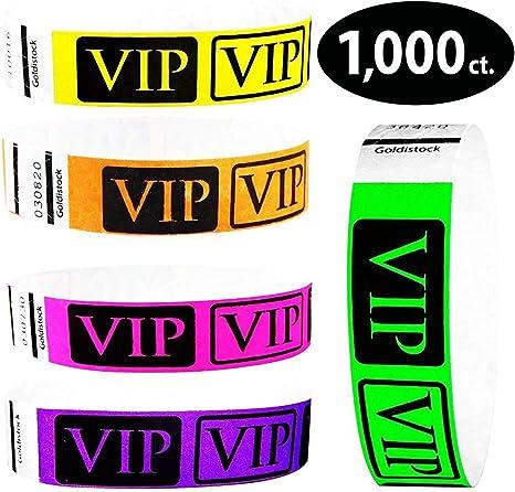 """Tyvek Wristbands  V.I.P 3//4/""""    5000 pieces  5 colors"""
