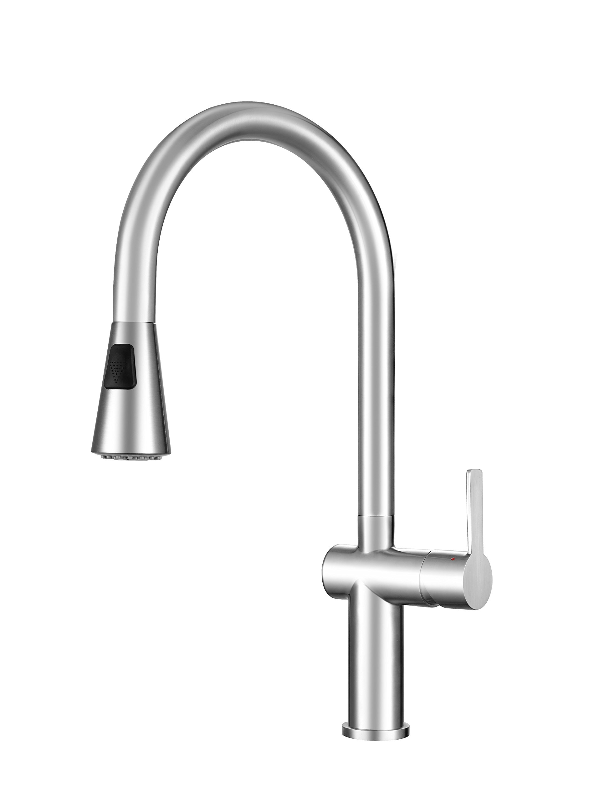 Franke FF20750 Bern Single Handle Pull-Down Kitchen Faucet with Fast-in Installation System, Stainless Steel