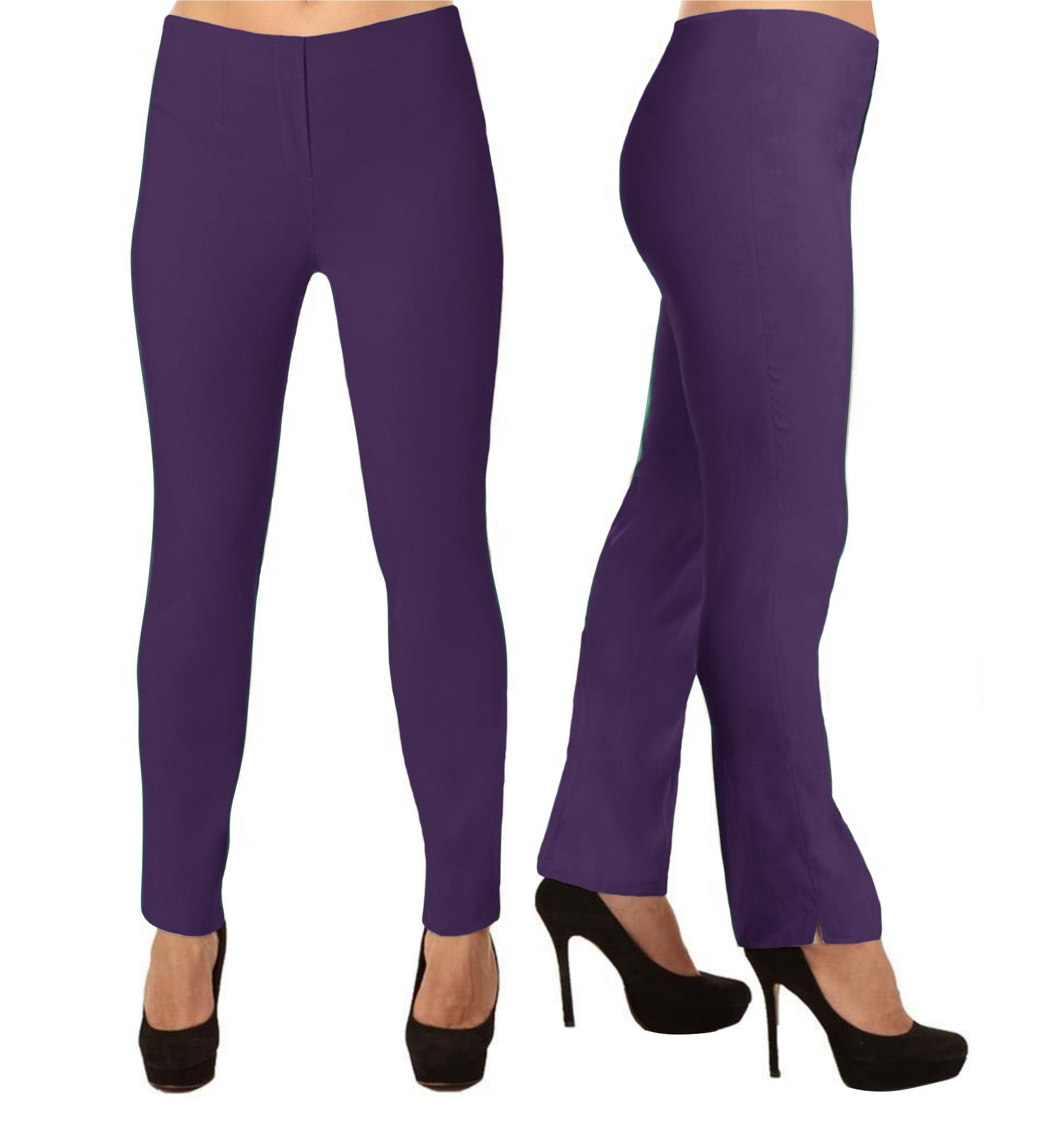 Lior Paris LIZE a Classic Fit Straight Pant For EveryBody Spring Summer Colors (1,Purple)