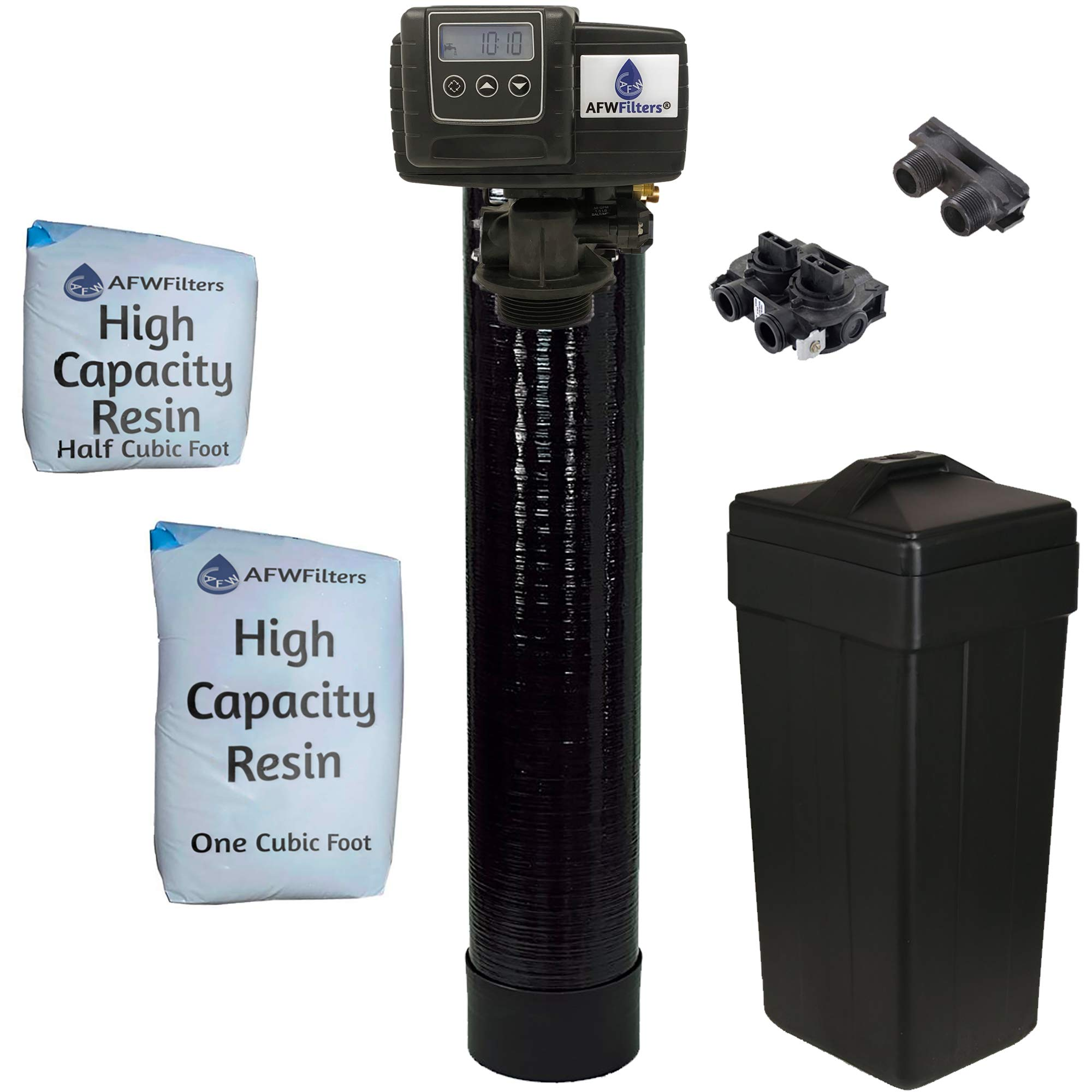 Fleck 5600SXT 48,000 Grain Water Softener Digital SXT Metered Whole House System by AFWFilters