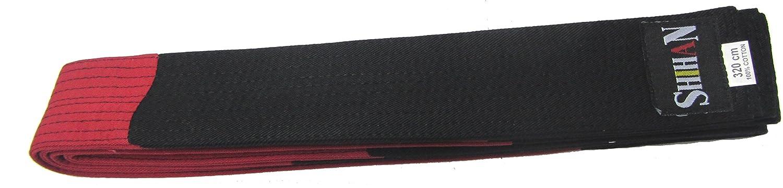 Martial Arts Belt - RANKED - Black/Red Block -ADULT- 320cm Shihan