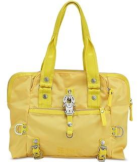 GEORGE GINA /& LUCY Nylon More Than Hot Umhängetasche Handtasche Tasche Gelb