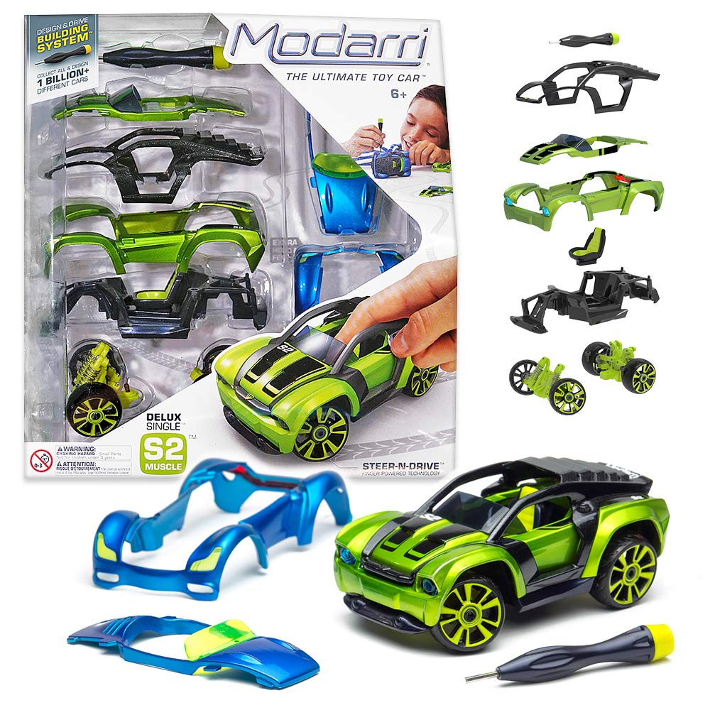 Build Your Car >> Modarri Delux S2 Muscle Car Build Your Car Kit Toy Set Ultimate Toy Car Make Your Own Car Toy For Thousands Of Designs Real Steering And