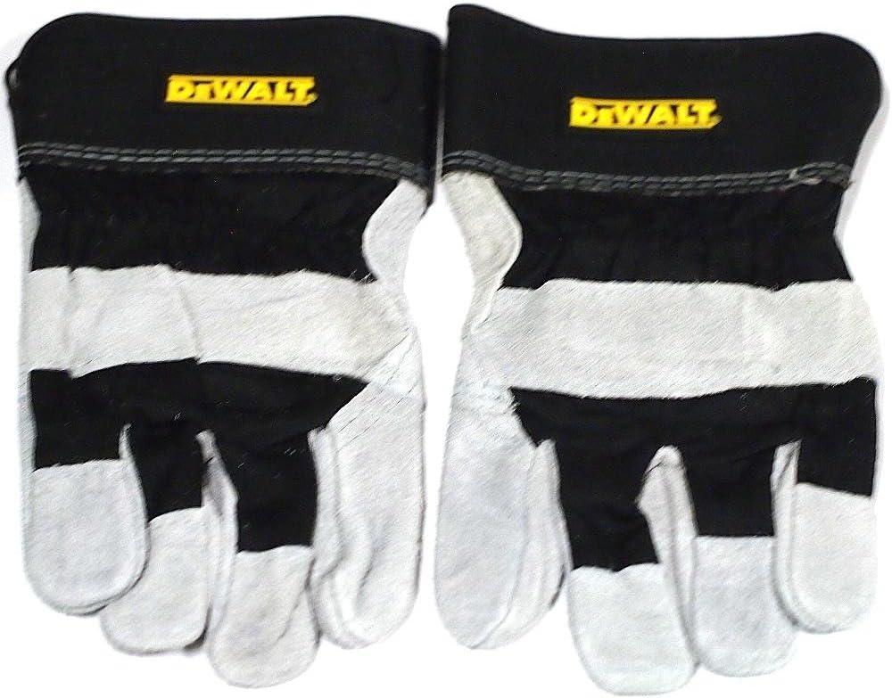 6 Pair DeWALT Leather Palm Work Gloves Sz Large DPG41