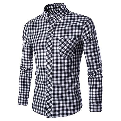 (アザブロ)AZBRO メンズ カジュアル フォーマル スリム フィット ボタンダウン LEON系 カッターシャツ ワイシャツ 綺麗め おしゃれ 長袖 ギンガムチェックシャツ