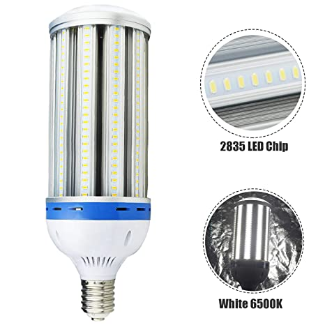 Buyleds LED Corn Bulb 120Watt E39 Mogul Base LED Corn Light Bulb  500-600Watt Replacement,6000k Bright White LED Street Light (CornLight-120w)