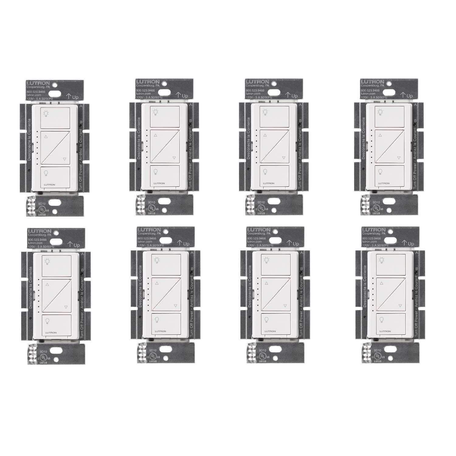 Lutron PD-6WCL-WH Caseta Wireless Smart Lighting Dimmer Switch, White (8 Pack) - - Amazon.com
