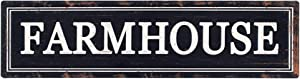 Funly mee Rustic Black Metal Farmhouse Sign Decorative Wall Hanging Sign 16.1×4.2 in