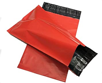 Burgundy 10 x 14 250 x 350mm Mailing Postage Postal Mail Bags 100