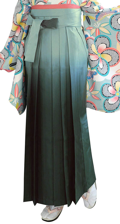 KYOETSU Women's Gradation Hakama Kimono for Graduation ceremony (Large, Viridian)