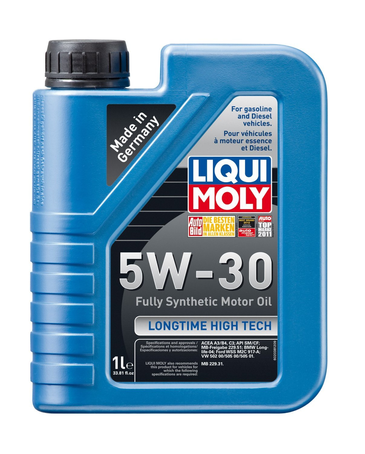 Liqui Moly (2039-4PK) Longtime High Tech 5W-30 Synthetic Motor Oil - 5 Liter, (Pack of 4)