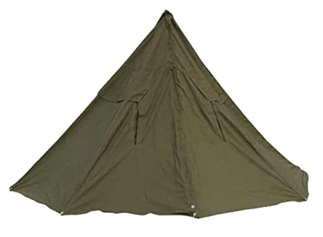 size 40 7ee66 d99f1 VIZ-UK WEAR Polish Army Cotton Canvas Bell 2 Men Olive Drab Tent Ponchos  with Pegs & Poles