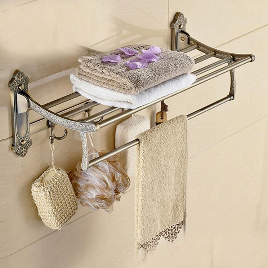 Kaxima Stainless steel bathroom Towel rack bathroom racks pendant towel rack 60CM by Kaxima