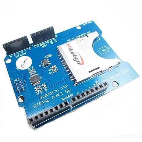 Amazon.com: hiletgo Arduino UNO tarjeta SD Shield para ...