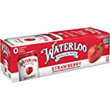 Waterloo Sparkling Water Strawberry Fruit Flavor 12oz Cans (Pack of 12) | Zero Calorie | Zero Sugar | Zero Sodium | Zero…