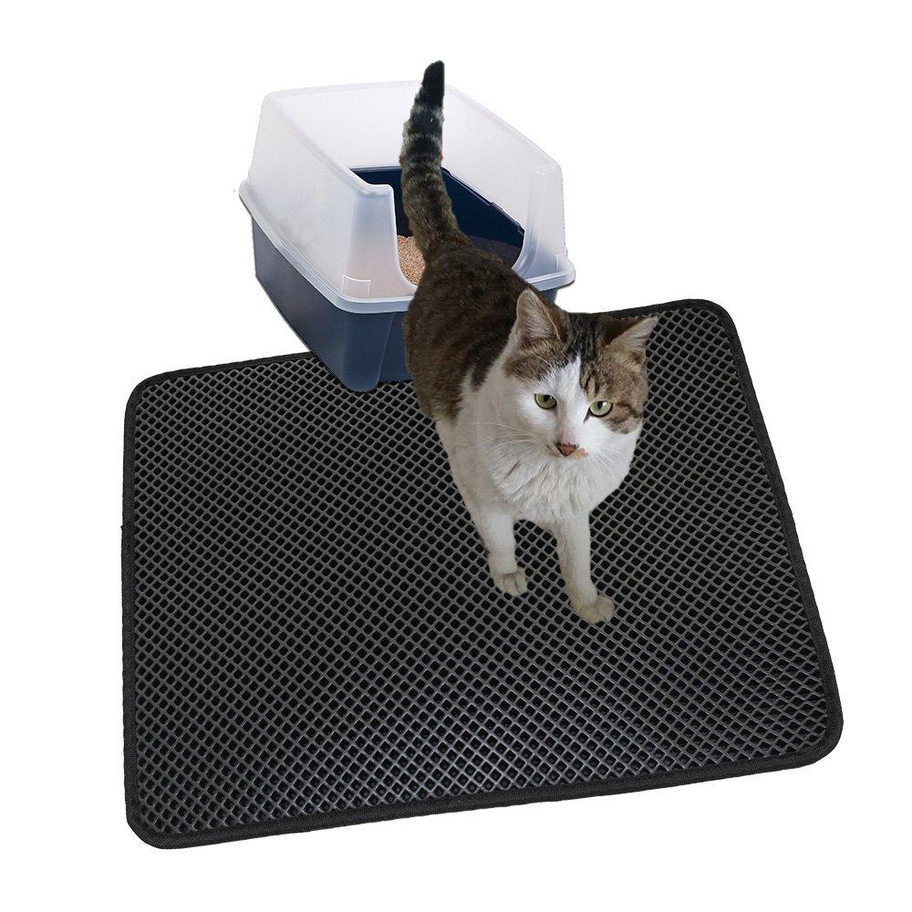 MJSTAR Cat Litter Mat, Double Layer Litter Box, Durble EVA Trapping Pad, Nonslip Waterproof Base Layer£¬pet mat Small