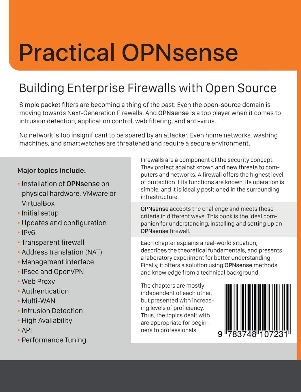 Practical OPNsense: Markus Stubbig: 9783748107231: Amazon com: Books