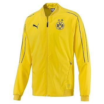 Puma BVB Leisure Jacket Without Sponsor Logo with 2 Side Pockets Chaqueta, Hombre: Amazon.es: Deportes y aire libre