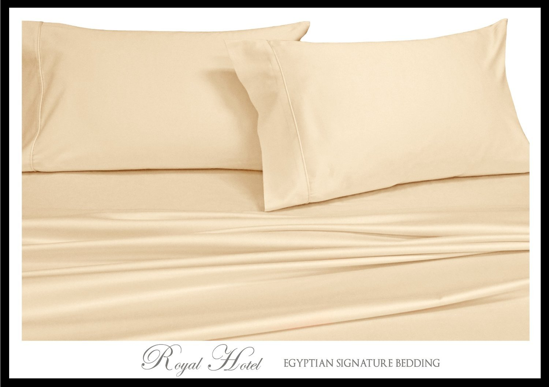 Split-King Ivory Silky Soft sheets 100% Viscose from Bamboo Sheet Set