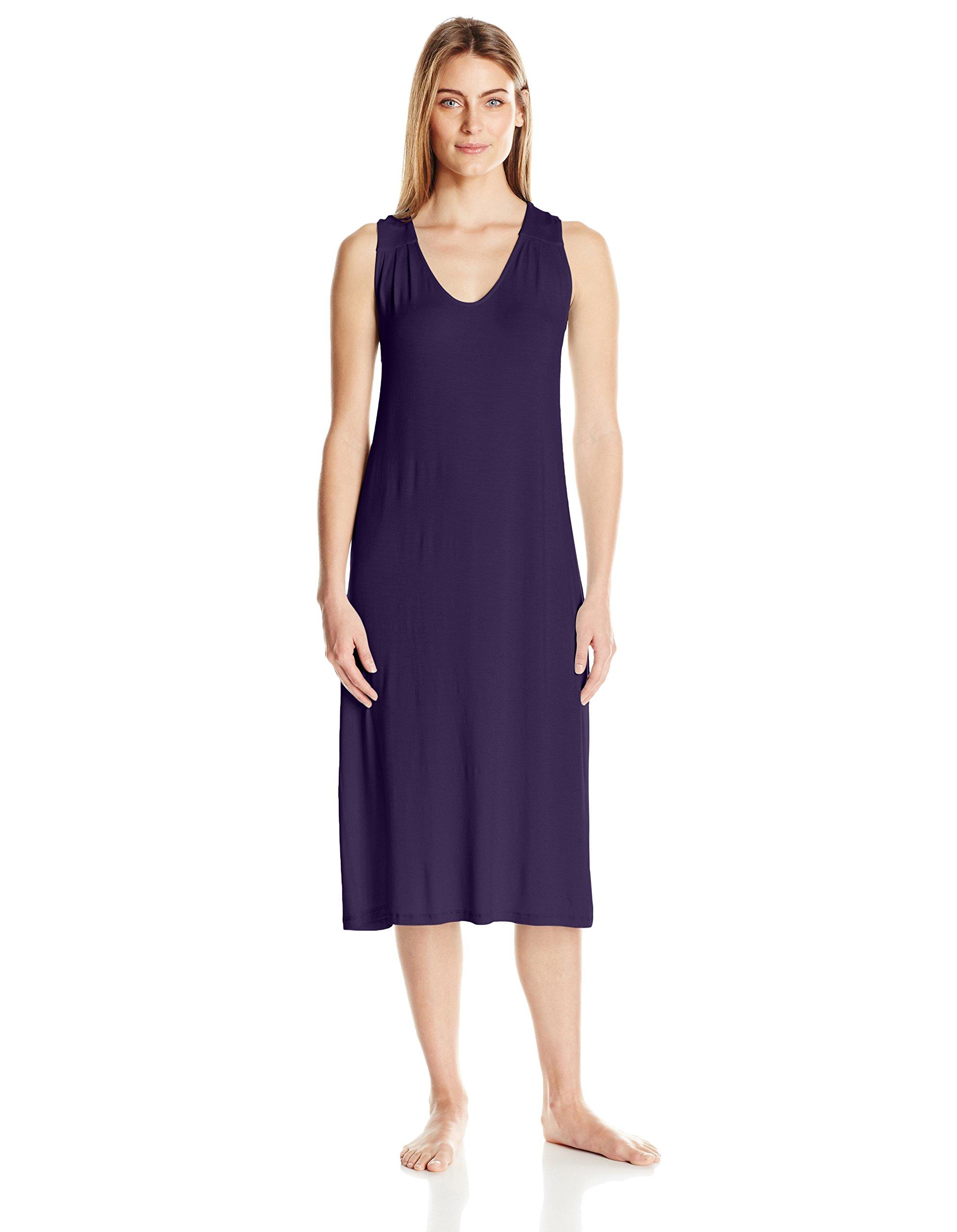 Arabella Women's Racerback Nightgown, Raisin, Medium Petite