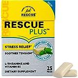 RESCUE Plus Stress Relief Gum, Dietary Supplement, Natural Mint Flavor – 25 Pieces