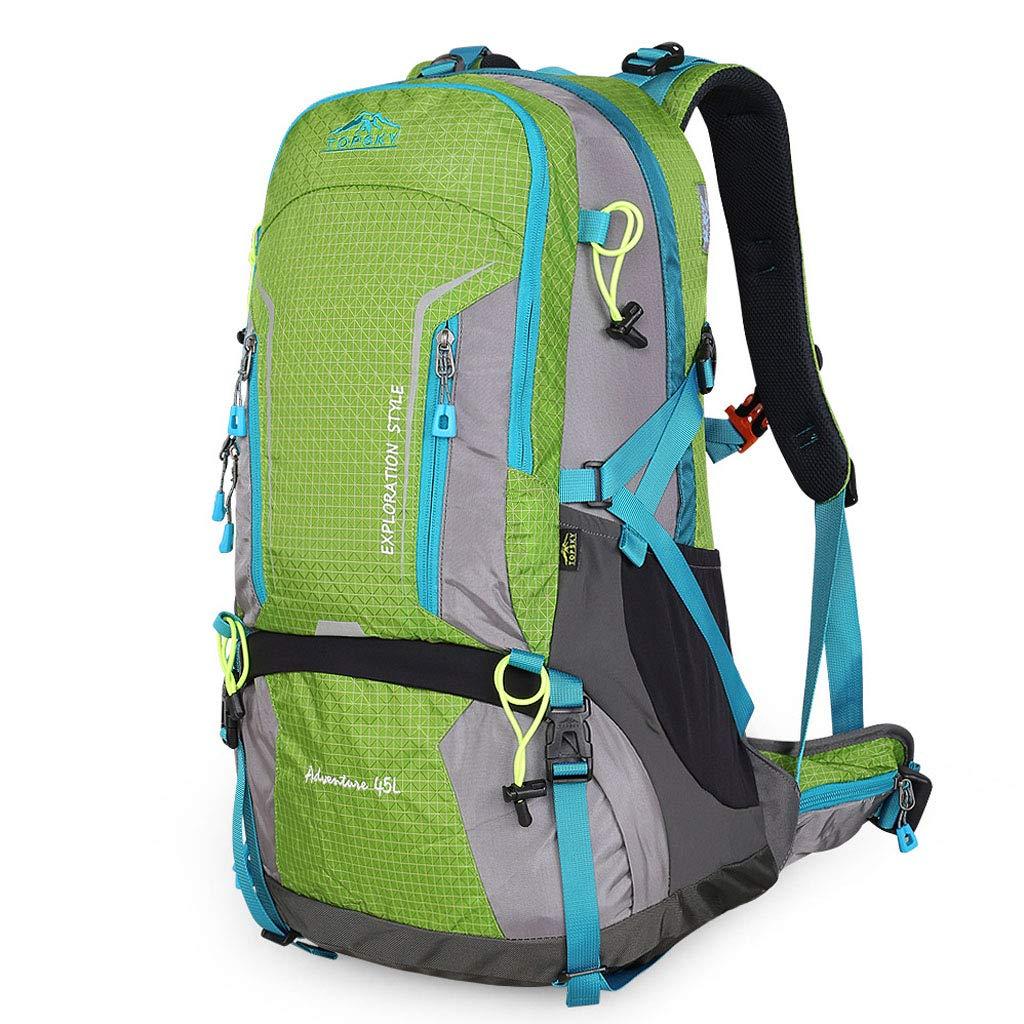 大容量登山バッグ45 L防水通気性トラベルバッグハイキングレジャースポーツ乗馬ロッククライミング多機能ファッションバックパック  Fruit green B07QJBKZM7