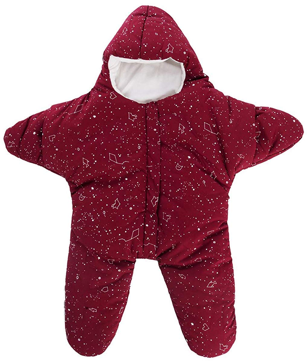 ZYEZI Baby Schlafsack Wickeldecke Universal Baby Anti Kick-Schlafsack Neugeborene Wickeltuch f/ür Bett Buggy Wrap Seestern