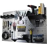 Wall Control Pegboard Standard Tool Storage Kit, Metallic/Black