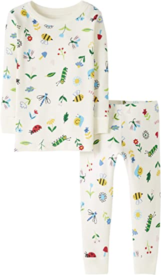 Moon and Back by Hanna Andersson Unisex Kinder 2-teiliges Pyjama-Set mit Langen /Ärmeln Infant-and-Toddler-Pajama-Sets
