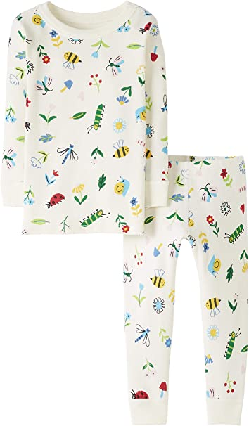 M/ädchen 2 Piece Long Sleeve Pajama Set Infant-and-Toddler-Pajama-Sets Moon and Back by Hanna Andersson Baby