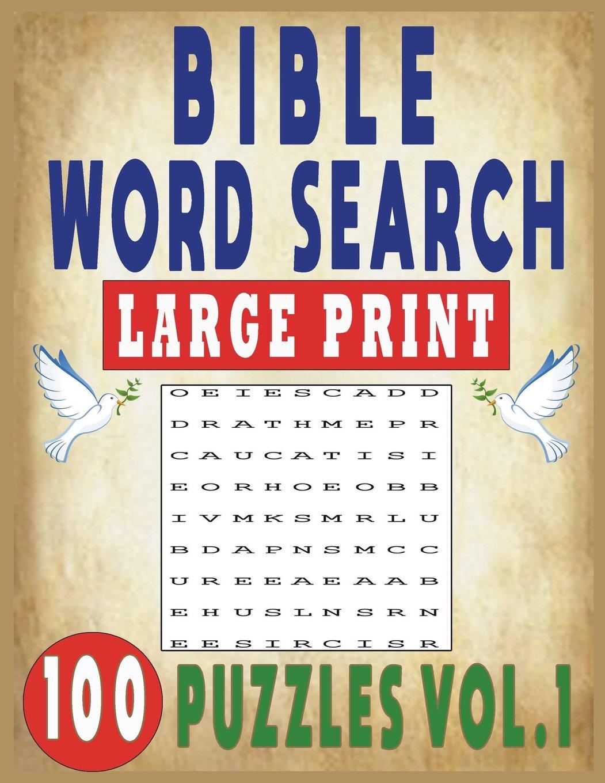 BIBLE WORD SEARCH LARGE PRINT 100 PUZZLES VOL 1: JISSIE TEY