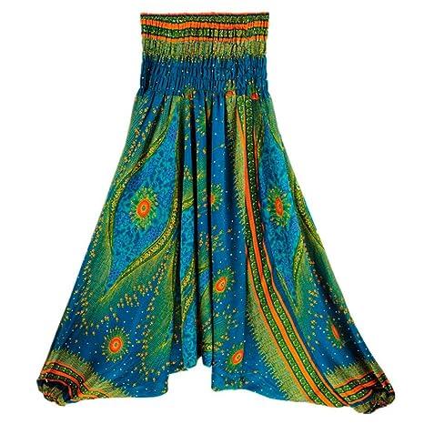 vovotrade Pantalones Bombachos de Yoga Muy cómodos y de Corte Profundo como Ropa Hippie y Pantalones cagados Pantalones de Yoga para Mujer