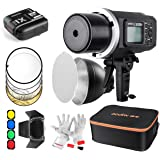 Godox AD600BM Bowens Mount 600Ws GN87 HSS Outdoor Flash Strobe Light 500 Full Power Flashes, 0.01-2.5S Recycle Time-With Carrying Case/Barn Door&Honeycomb/Standard Reflector/Color Gels/Soft Diffuser (Best Kit with X1C Trigger for Canon)
