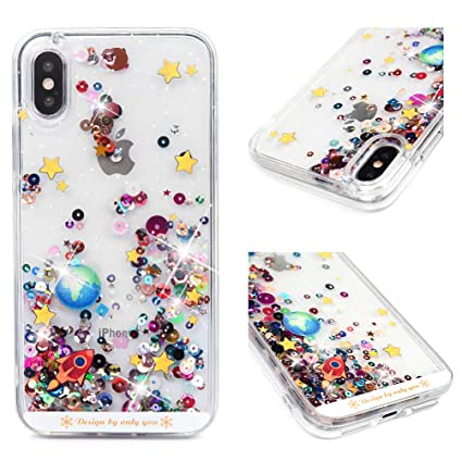 Amazon.com: Badalink iPhone Xs Funda, iPhone X Case Glitter ...