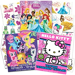 eeaaab6c2e1d5 Savvi Temporary Tattoos Party Pack for Girls -- Over 150 Tattoos Featuring  My Little Pony
