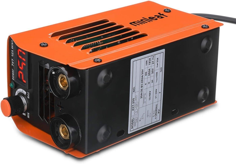 Portátil Máquina de soldadura eléctrica, 250a 110v Mini máquina de soldadura eléctrica, portátil de pantalla digital actual herramienta de soldadura de la máquina de soldadura IGBT Herramientas eléctr