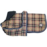 """Luxury Water Proof Dog Coat Size: 40cm (16""""), Colour: Classic Check"""