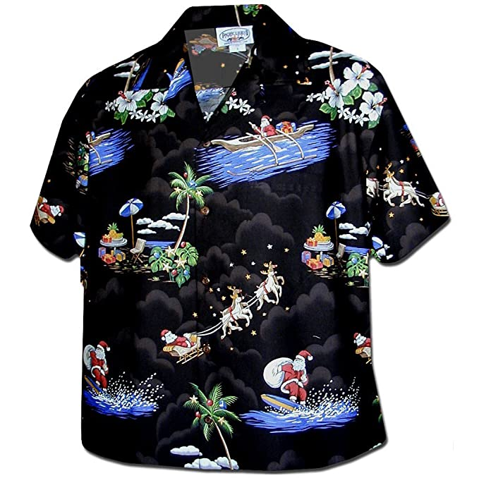 Black Santa Hawaiian Shirt