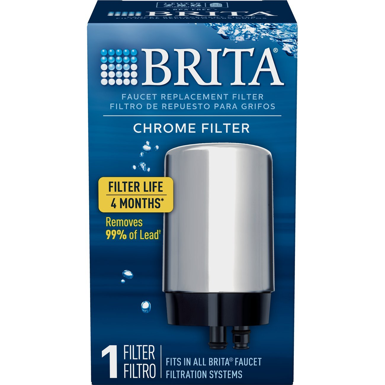 Brita On Tap Basic Water Faucet Filtration System Filter, Chrome, 2 ...