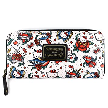 loun gefly Loves Hello Kitty Mujer XL CARTERA - Hello Kitty Tattoo Pebble Cartera: Amazon.es: Equipaje