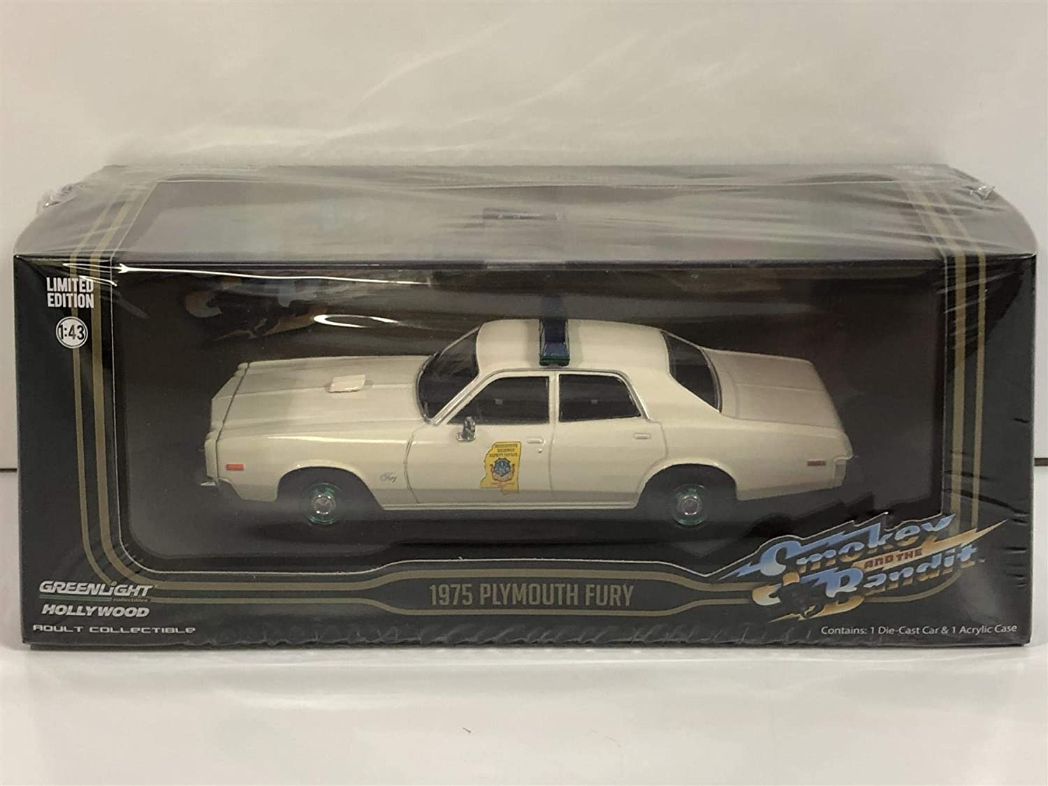 Greenlight 86557 1: 43 Smokey & The Bandit (1977) - 1975 Plymouth Fury Mississippi Highway Patrol