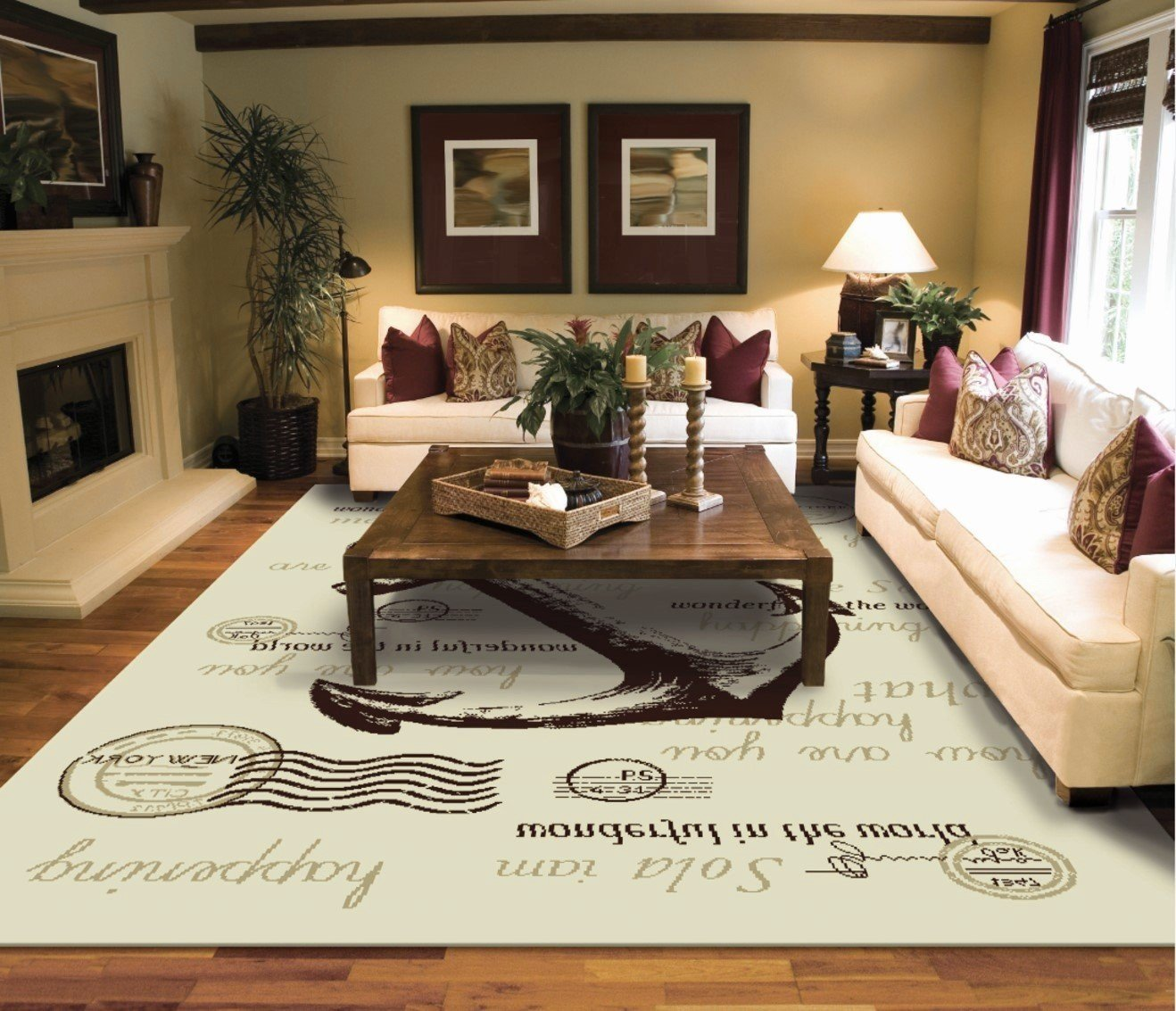 large living room rugs furniture. Brilliant Furniture Amazoncom Modern Cream 8x10 Rug For Living Room NYC Anchor Hudson  River Contemporary Rugs Luxury 8x11 Area Rugs Kitchen U0026 Dining Intended Large Furniture
