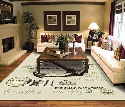 amazon com modern cream 8x10 rug for living room cream nyc anchor rh amazon com Living Room Area Rugs Living Room Window Treatments