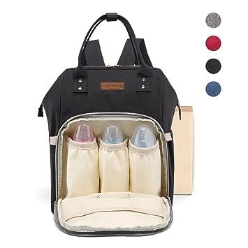 a0f347ecd8f3 Amazon.com   SANTSUN Diaper Bag Waterproof Nappy Bag Multi-Functional Large  Capacity Travel Backpack for Men